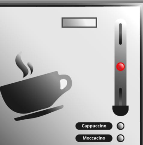 Der Münzeinwurf ist seitlich an dem Kaffeevollautomaten zu finden.