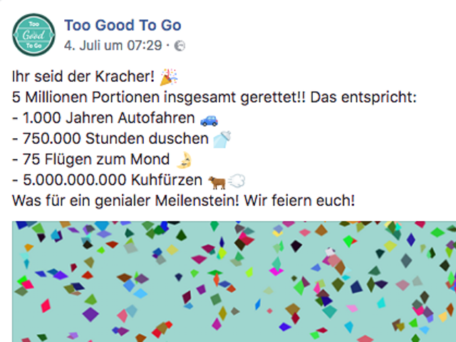 Too Good To Go auf Facebook